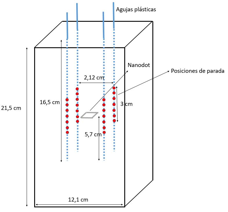 Diseño del maniquí y configuración de irradiación